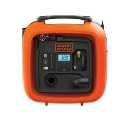 BLACK+DECKER - Gonfleurcompresseur 11 bars 160 psi  Alimentation allume cigare  3 aiguillesembouts - ASI400