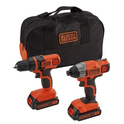 BLACK+DECKER - Lot 18V  Perceuse sans fil  Visseuse  impact  LITHIUM - BDCDDIM18B