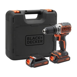 BLACK+DECKER - PerceuseVisseuse 18V  2 batteries   Chargeur rapide - BL186K1B