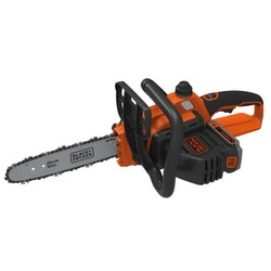 BLACK+DECKER - Trononneuse sans fil  Chaine chrome  Double interrupteur de scurit  Guide de 25cm  18V  2Ah  35 ms  1 Batterie - CS1825ST1