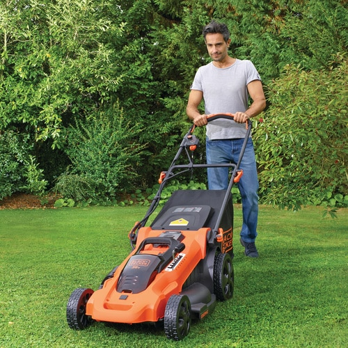 BLACK+DECKER - Tondeuse sans fil LITHIUM 36V  2 batteries 2 Ah  48cm  Mulching  7 hauteurs rglables - CLMA4820L2