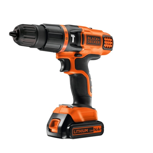 BLACK+DECKER - Perceuse  percussion 2 vitesses 144V LithiumIon - EGBL148K