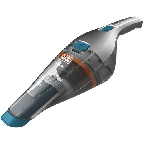 BLACK+DECKER - Aspirateur  main sans fil  155 Airwatts  72 V  15 Ah  Capacit du bol  3850 ml  Base de charge  Brosse - NVC215WA