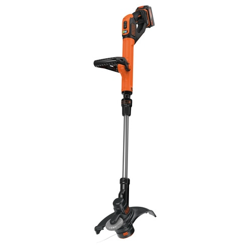 BLACK+DECKER - Coupebordures sans fil  28 cm  18 V  4 Ah  Vitesse de coupe variable EcoTurbo  1 Batterie - STC1840EPC