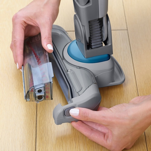BLACK+DECKER - Aspirateur balai SMART TECH 18V  gris anthracite - SVJ520BFS