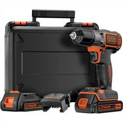 BLACK+DECKER - Perceuse visseuse sans fil autosense 18V  2 Batteries Lithium - ASD184KB