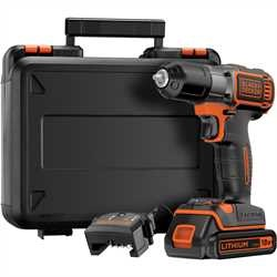 BLACK+DECKER - Perceuse visseuse Autosense sans fil 18 V 15 Ah  LITHIUM - ASD184K