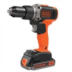 BLACK+DECKER - Perceuse  percussion Lithium 18V - BCD003ME2K