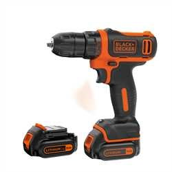 BLACK+DECKER - Perceuse visseuse compacte 108V LithiumIon - BDCDD12KB