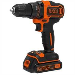 BLACK+DECKER - Perceuse visseuse 2 vitesses sans fil Lithium 18V  2 batteries 15ah  coffret - BDCDD186K1B
