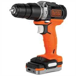 BLACK+DECKER - Perceuse  percussion sans fil 12V USB - BDCHD12S1