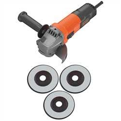 BLACK+DECKER - Meuleuse dAngle 3 Disques 750 W Noir 115 mm - BEG110A3