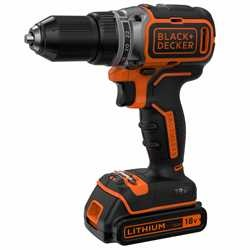 BLACK+DECKER - Perceuse visseuse BRUSHLESS 2 vitesses 18V LITHIUM  2 batteries 15Ah chargeur rapide en coffret - BL186K1B