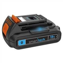 BLACK+DECKER - Batterie Lithium 18V SMART TECH 2Ah - BL2018ST