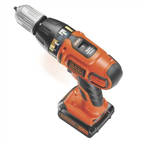 BLACK+DECKER - Perceuse  percussion AUTOSELECT sans fil 144V  LITHIUM - ASL148K