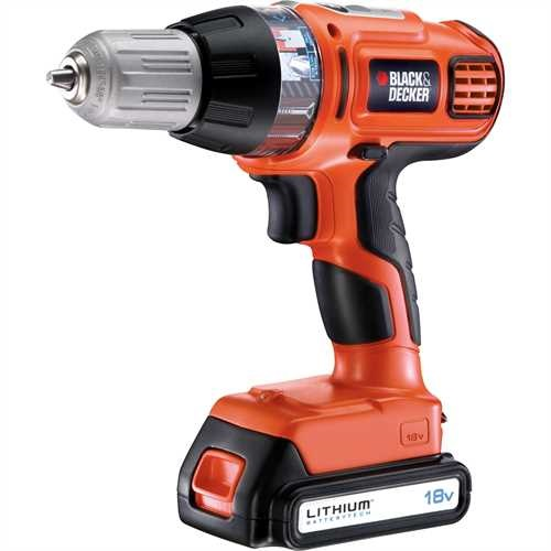 BLACK+DECKER - Perceuse sans fil Autoselect 18V  LITHIUM - ASL186KB