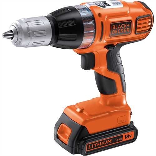 BLACK+DECKER - Perceuse  percussion Autoselect 18V Lithium - ASL188KB
