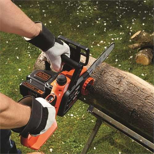 BLACK+DECKER - Trononneuse 25 cm sans fil Lithium 18V  SMART TECH 2 Ah  tendeur de chane sans outil - CS1825ST1