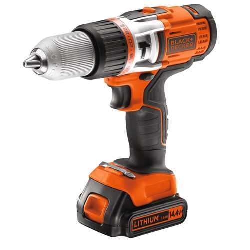 BLACK+DECKER - Perceuse  percussion haute performance 144V 15Ah   LITHIUM - EGBHP148K