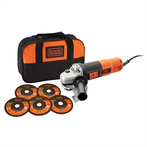 BLACK+DECKER - MEULEUSE DANGLE 900 WATTS  125MM  5 ACCESSOIRES - KG912SA5