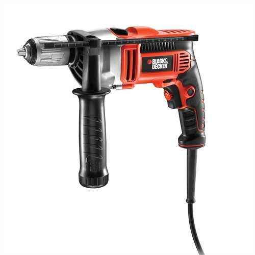 BLACK+DECKER - Perceuse  percussion 1000W - KR1001K