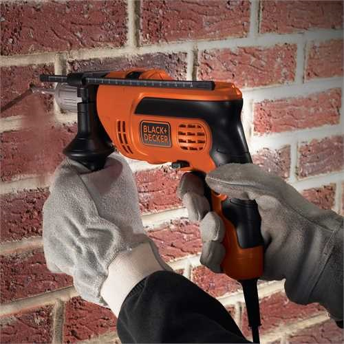 BLACK+DECKER - Perceuse  percussion 710W - KR714CRESK